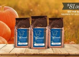 Lifeboost Coffee Organic Pumpkin Spice Whole Bean Medium Roast Coffee Bundle 36oz