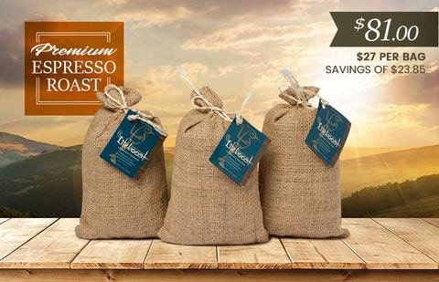 Lifeboost Coffee Organic Espresso Whole Bean Dark Roast Coffee Bundle 36oz