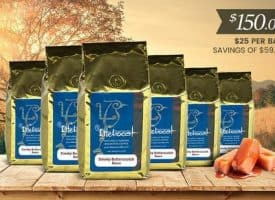 Lifeboost Coffee Organic Smoky Butterscotch Bundle Ground Medium Roast Coffee 72oz