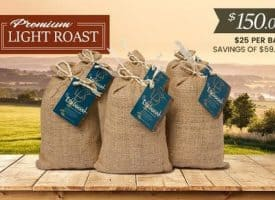 Lifeboost Coffee Organic Whole Bean Light Roast Coffee Bundle 72oz