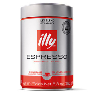 Illy's Moka Stove Top Ground Medium Roast Coffee 8.8oz (case of 6)