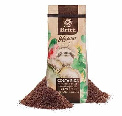 Cafe Britt Costa Rica Habitat Ground Medium Roast Coffee 12oz