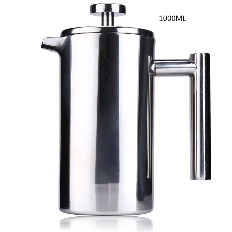 1000ml Barista Quality Coffee French Press with Double Wall