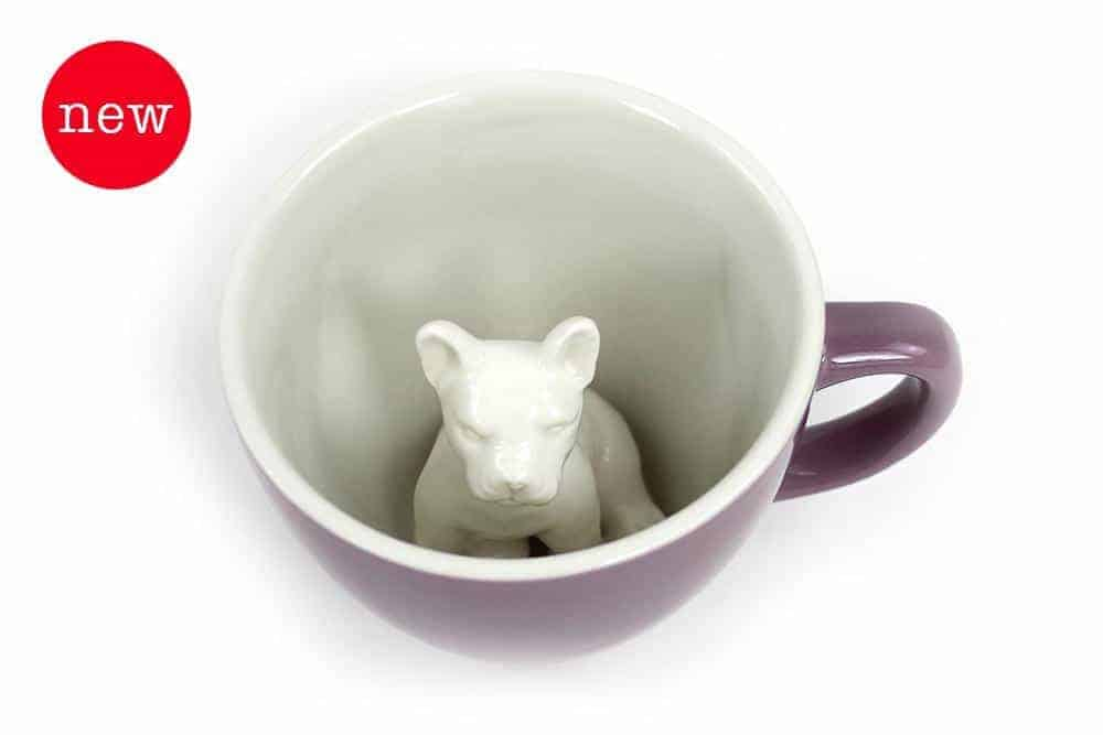 Creature Cups Specialty Coffee Mugs - Frenchie Mauve Dog (Purple)