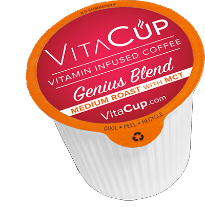 VitaCup Genius Blend Medium Roast Healthy Coffee Pods 16ct