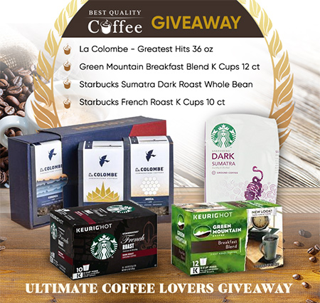 Coffee Giveaway - La Colombe, Starbucks, Green Mountain