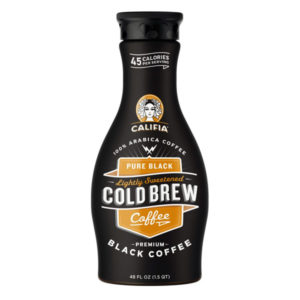Califia Farms Pure Black Coffee Lightly Sweetened Cold Brew 48 oz