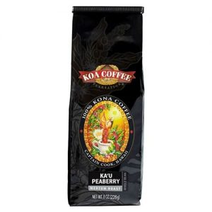 Koa Coffee Kau Peaberry Whole Bean Medium Roast Coffee 8oz