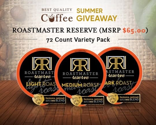 Roastmaster Reserve - Coffee Giveaway