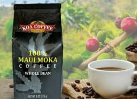 Koa Coffee Maui Mokka Medium Roast Whole Bean Coffee 8oz