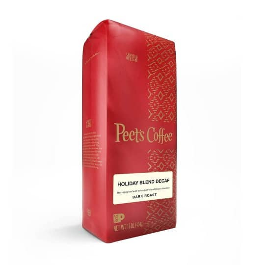 Peet's Coffee Decaf Holiday Blend Dark Roast 16oz - Seasonal