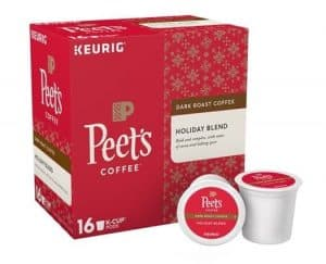 Peet's Coffee Holiday Blend Dark Roast K Cups 16ct - Seasonal