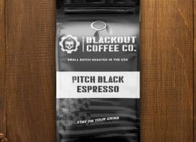 Blackout Coffee Pitch Black Espresso Whole Bean Dark Roast Coffee 12oz