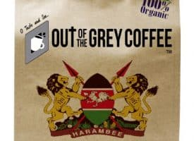 Out of the Grey Coffee Organic Kenya AA Whole Bean Dark Medium Roast Coffee 16oz