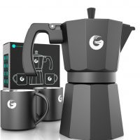 Coffee Gator Espresso Moka Pot + 2 thermal Cups