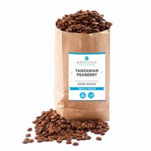 Grosche Tanzanian Peaberry Dark Roast Whole Bean Coffee 16oz