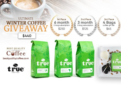Ultimate Winter Coffee Giveaway ($440) - True Coffee Specialty Subscription