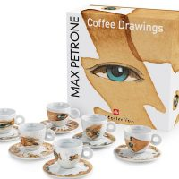 Quality Espresso Cups from illy Art Collection Max Petrone (Set of 6)