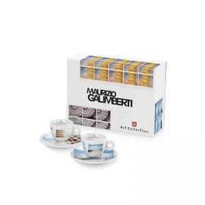 Quality Espresso Cups from illy Art Collection Maurizio Galimberti (Set of 2)