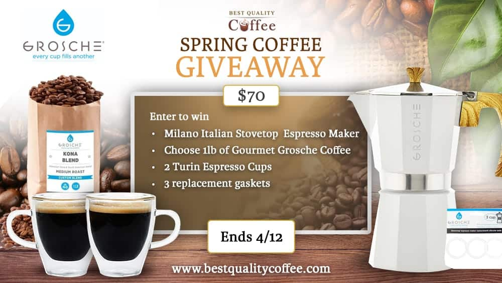 Grosche Giveaway - Best Quality Coffee