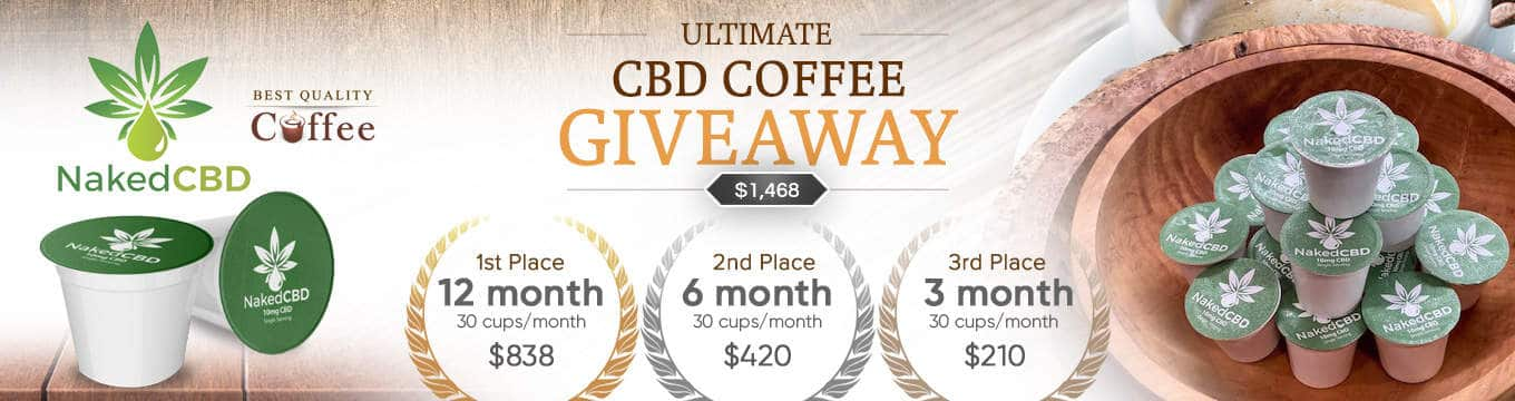 Coffee Giveaways - Best Quality Coffee NakedCBD Coffee Giveaway ($1468 in prizes)