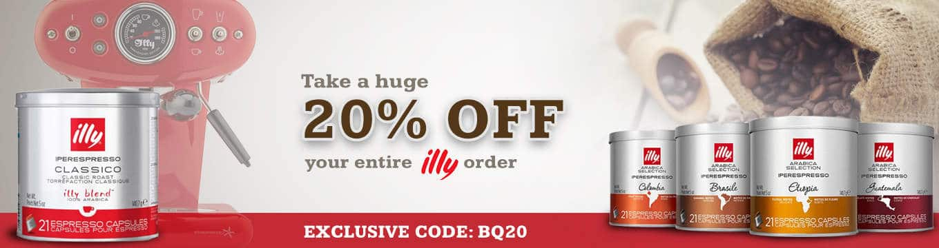 20% Illy Coupon and Deal