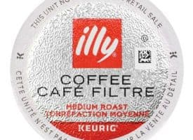 illy Coffee, Smooth and Balanced, Medium Roast Coffee K-Cups, Made with 100% .