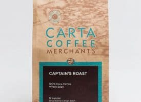 Carta Coffee Captain's Dark Roast 6 oz - Quality Kona Coffee