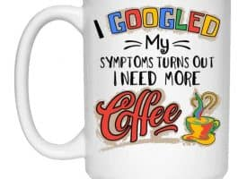 Google My Symptoms Coffee Mug