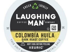 Laughing Man Columbia Huila Dark Roast Coffee K-Cup® Pods, 0.41 Oz, Pack Of 22 K-Cup Pods