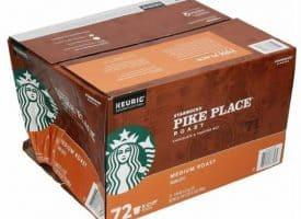 Starbucks Pike Place Medium Roast Coffee K-Cups Pods - 72 Coun *DMGD BOX*