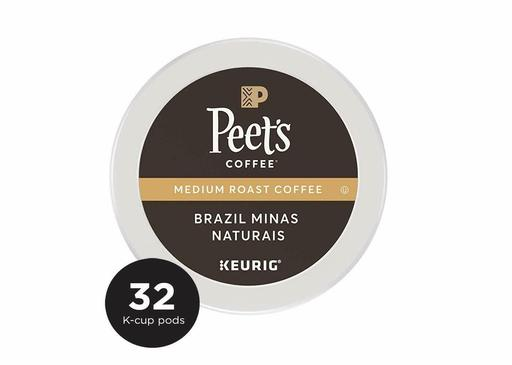 PeetS Coffee K-Cup Pack Brazil Minas Naturais Medium Roast Coffee