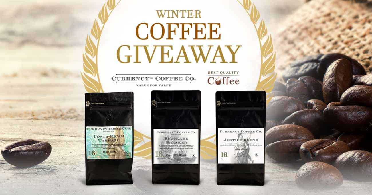 Gourmet Coffee Giveaway - Currency Coffee