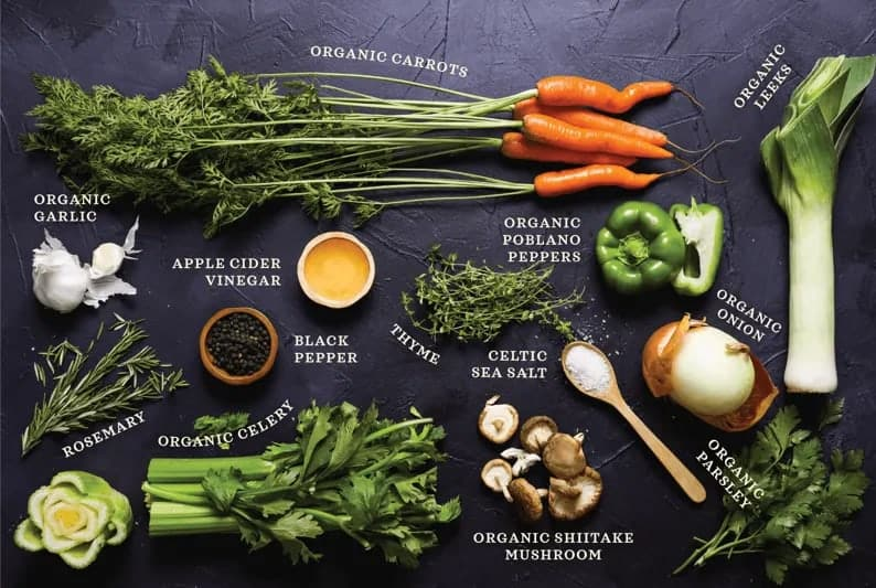 Kettle and Fire Bone Broth - Ingredients