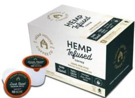 Hemp House CBD Coffee Pods Dark Roast 8 Count