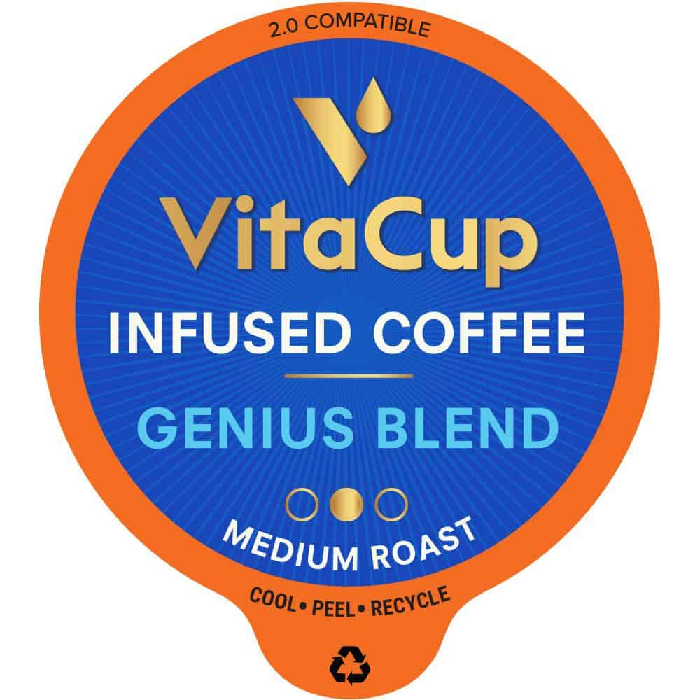 VitaCup Genius Blend Coffee Pods - 16ct