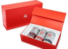illy Whole Bean Coffee Bold Flavor Lovers 3-Pack Gift Set