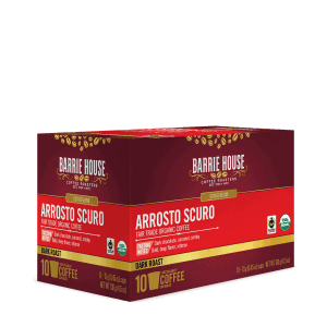 Barrie House Organic Arrosto Scuro Coffee Pods 10ct