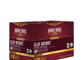 Barrie House Organic Coffee Fair Trade Clay Ave Coffee Pods