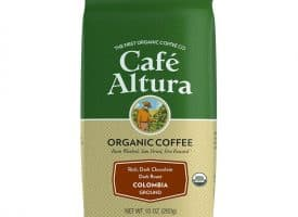 352548 10 oz Colombian Dark Roast Ground Coffee - 6 per Case