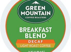 6 Ct Green Mountain Coffee Breakfast Blend Decaf Coffee Sample. Coffee