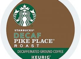 24 Ct Starbucks Decaf Pike Place Roast Coffee K-Cup® Pods. Coffee