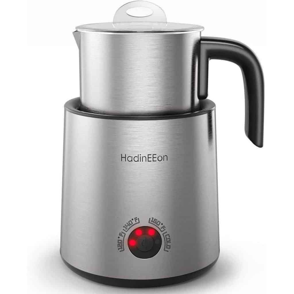 HadinEEon Variable Temperature Milk Frother,Dishwasher Safe Stainless Steel,3.5oz - Mother's Day Coffee Gift
