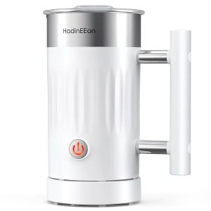 HadinEEon 5 in 1 Electric Magnetic Milk Frother for Coffee, Latte, Cappuccino, Hot Chocolates-MF920 (5.1oz/10.1oz)
