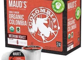 Maud's Organic Single-Origin Fair-Trade Colombia Medium Roast Coffee Pods - 48ct (48ct)