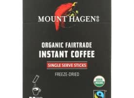 HG2220648 1.76 oz Organic Fairtrade Instant Coffee, 25 Single Serve Sticks - 25 Count - Case of 8