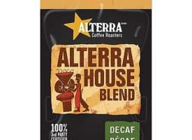 ALTERRA® Coffee Freshpack Pods, House Blend Decaf, Light Roast,