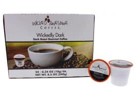 I0096763 Awesome Wickedly Dark Coffee, Single Serve Cups - 24 Cups