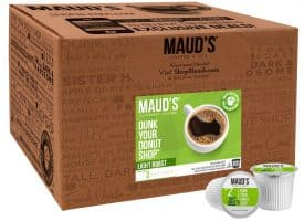 Maud's Dunk Your Donut Shop Light Roast Coffee Pods - 100ct