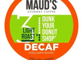 Maud's Dunk Your Donut Shop Decaf Light Roast Coffee Pods